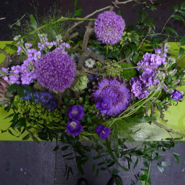 Natuurlijke creatie lila paars