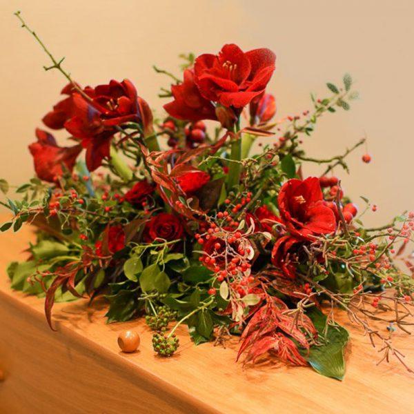 afscheidsbloemen warme tinten