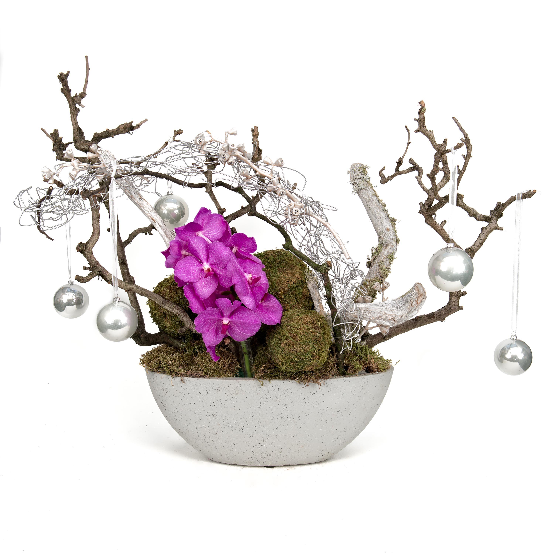 Tafel balie creatie met orchidee met vanda