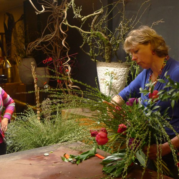 Floral demonstration Diny Blom