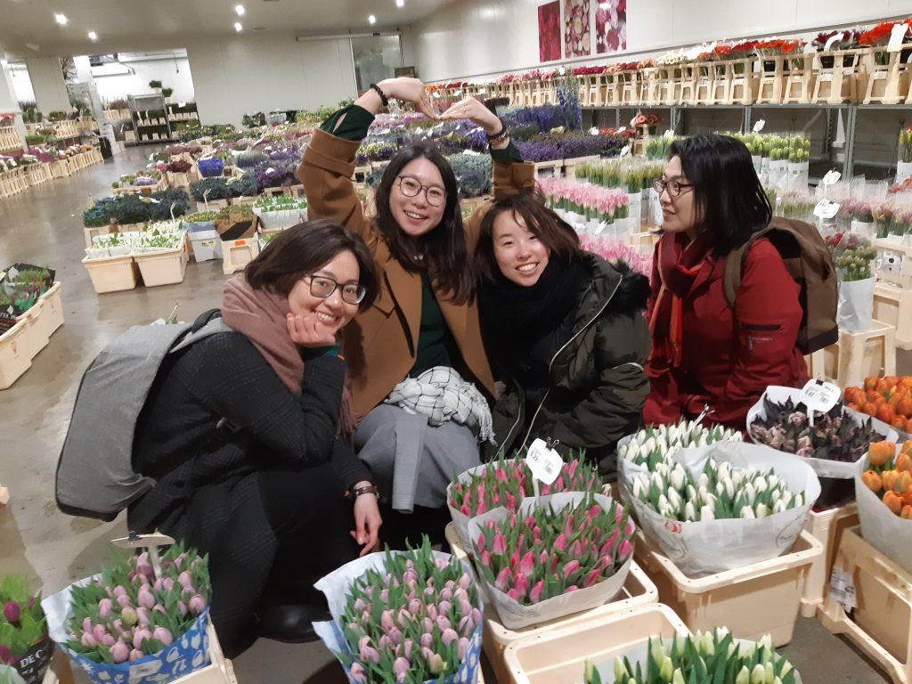 at flower wholesaler