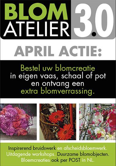 April actie bloemcreaties