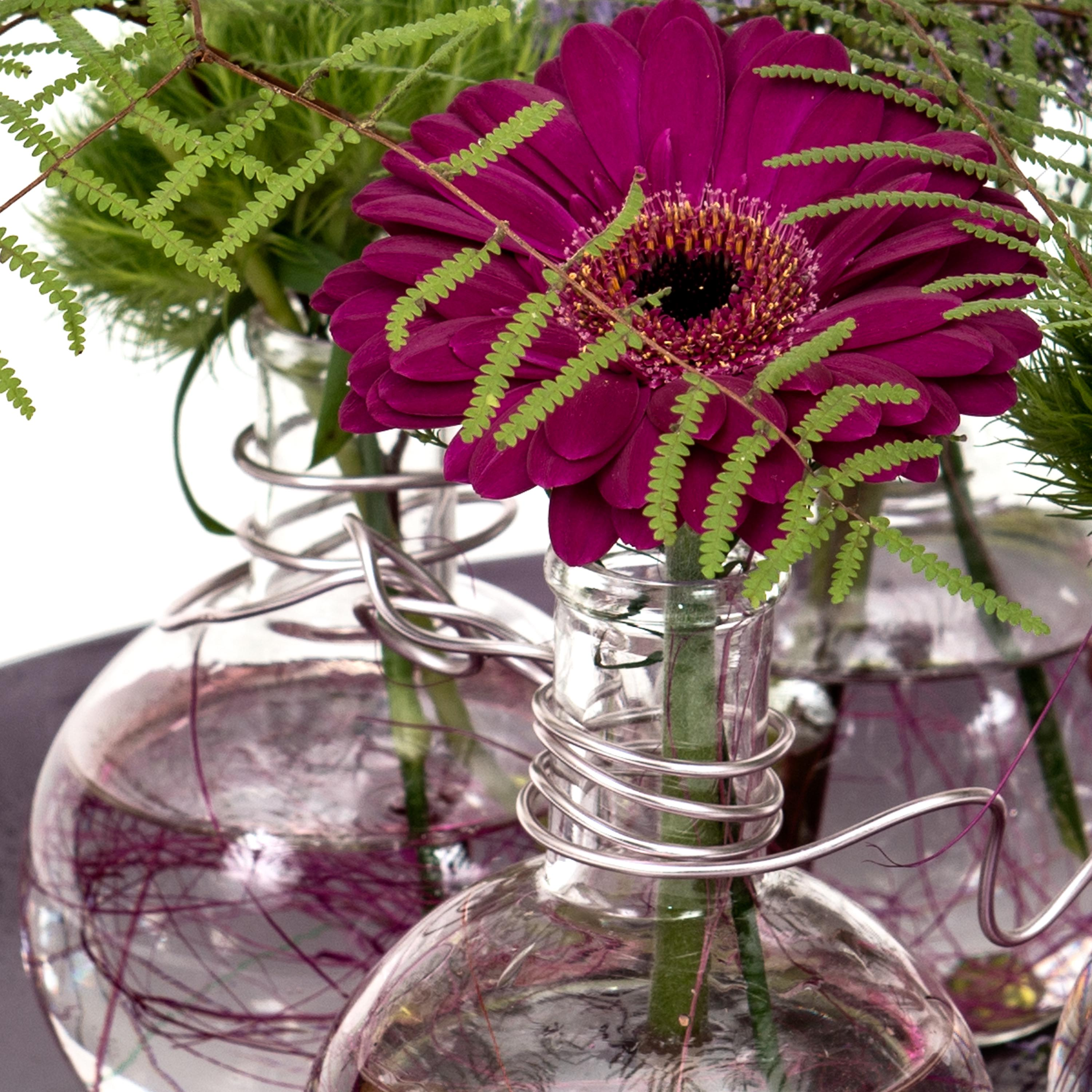 Blomcreations in glass